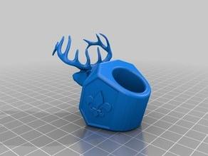 Deer head neckerchief slide for Boy Scouts