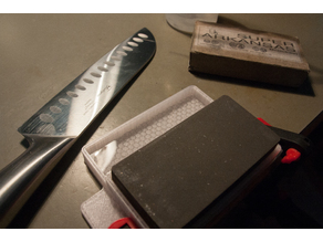 sharpening stone holder