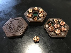 Hexagonal Dice Box - Cthulhu