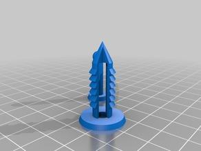 My Customized Parametric push pin-8mm-cones