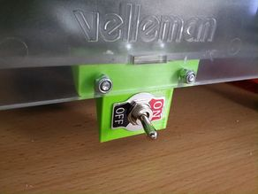 Power cord connector and switch for Velleman Vertex K8400
