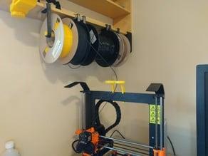 Shelf-mount hanging spool holder
