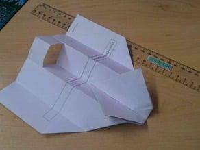 Paper airplane replica