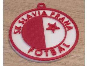 SK Slavia Praha keychain