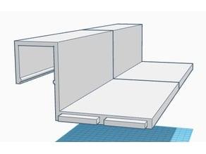 Office partition shelf