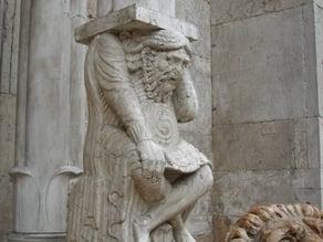 Telamone - Protiro della Cattedrale di San Giorgio (Ferrara, Italy)