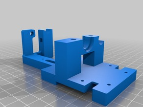 HyperCube Extruder Mount With Cable and Tube Holder