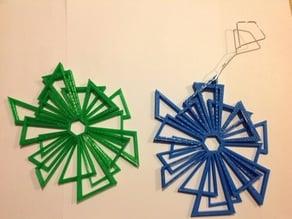 Triangle Snowflake Ornament