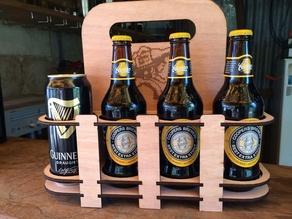 Laser cut beer holder 8 pack