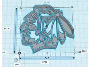 Blackhawks Cookie Cutter Set