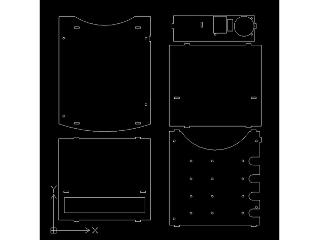 NAS Mini-ITX case DXF files