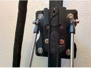 Simple adjustable slider clamp for He3D K200,  K280 and similar kossel deltas
