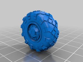 25mm diameter BTR-style wheel for 28mm scale vehicles