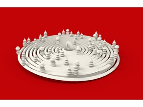 Christmas Tree Spiral Bauble with Xmas Trees & Snowmen