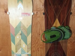 Snowboard and Wakeboard Wall Mount