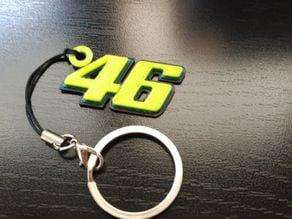 Key Chain Valentino Rossi 3D