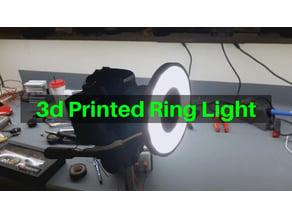 3d Printed Ring Light