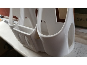 Back of headrest cup holder/organizer