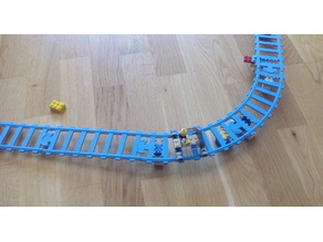 "lego ""rail"" track for ""Wide LEGO Wheel Rim"""