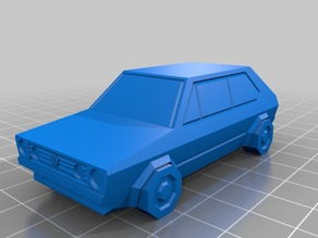 Volkswagen Golf GTD - Low Poly Miniature