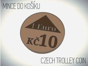 10 KČ / 1 Euro - Shopping cart coin