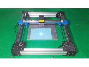 029-Core XY Homemade Laser Plotter CoreXY CNC Frame Cartesian Motion Platform DIY Actuators 3D Printer