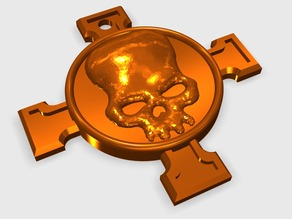 Templar Death Head Skull Charm