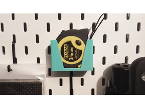 Small tape measure holder for IKEA pegboard