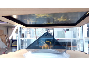 An adjustable hologram box generator for screens