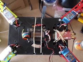 Extended body for Crossfire quadcopter