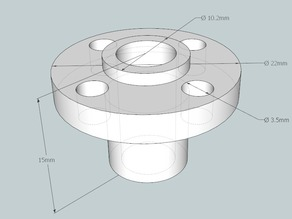 8mm Flanged Nut for Acme Lead Screw