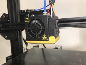 Creality Ender 3 part cooling fan duct