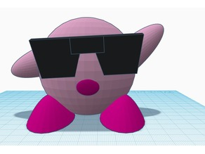 Kirby with Sunglasses