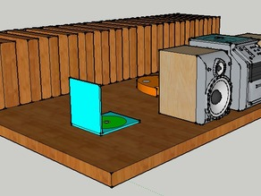 Ghostly CD Rack With Attached Stereo & Vinyl Player