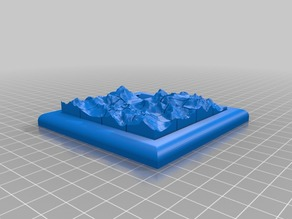 Slide Puzzle with Mountain Topology