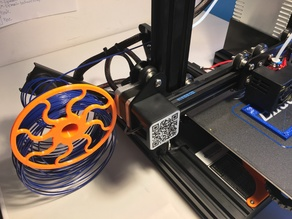 the WHEEL - ONE SIDED - Ender 3 loose, unspooled filament protector, guide