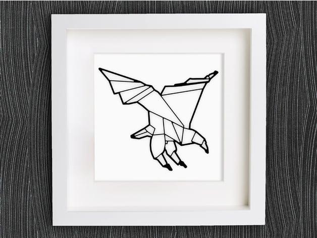 Origami eagle Royalty Free Vector Image - VectorStock | 472x628