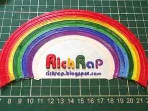 Multicoloured Rainbow filament test