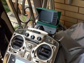 5.8G DVR mount for Futaba FF9 RC controller