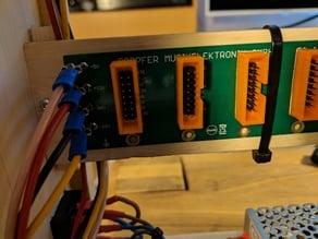 IDC box header frame for pin headers