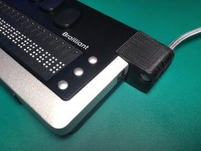 Brailliant Braille Display USB Plug Protector (snap-on)