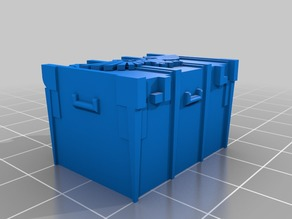Wargame 40K ammo small size crate - 28mm