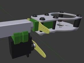 XQ Tricopter Yaw (Motor Tilt) Mechanism (12mm aluminum booms)