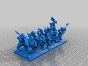 "28mm orc ""Greatax"" unit"