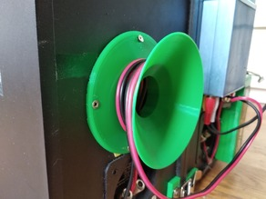 Cable spool for speaker cables and more, no support needed