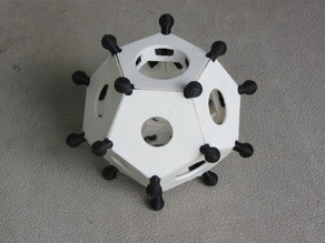 Snap-together Roman Dodecahedron