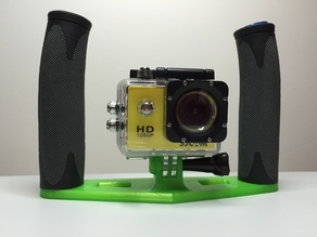 Scuba diving camera tray for GoPro/SJCAM