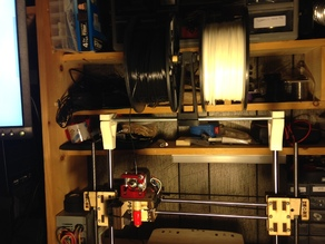 Printrbot Plus v2.1 Dual Spool Holder/Top Rail Support