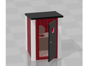 Outdoor toilet H0 scale