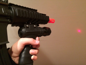 Picatinny Airsoft Grip with 3 lighting options and laser